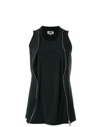 Blusa sin mangas negra de MM6 MAISON MARGIELA