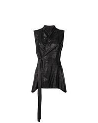 Blusa sin mangas negra de Rick Owens Lilies