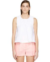 Blusa sin mangas plisada blanca de Kenzo