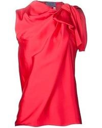 Blusa sin mangas roja