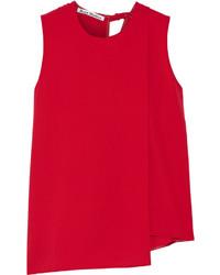 Blusa sin mangas roja de Acne Studios