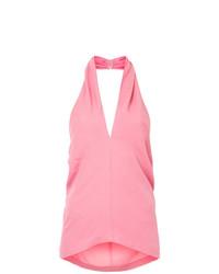 Blusa sin mangas rosada de Theory