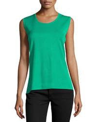 Blusa sin mangas verde
