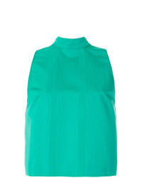 Blusa sin mangas verde de MSGM
