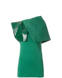 Blusa sin mangas verde de Rick Owens