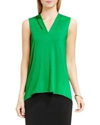 Blusa sin mangas verde de Vince Camuto