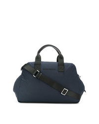Bolsa de viaje de cuero azul marino de Emporio Armani