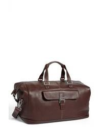 Bolsa de viaje de cuero marrón de Boconi