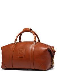 Bolsa de viaje de cuero marrón de Ghurka