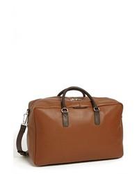 Bolsa de viaje de cuero marrón de Marc by Marc Jacobs