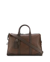 Bolsa de viaje de cuero marrón de Santoni