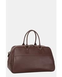 Bolsa de viaje de cuero marrón de Tommy Bahama