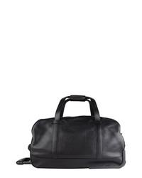 Bolsa de viaje de cuero negra de Bosca