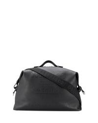 Bolsa de viaje de cuero negra de DSQUARED2