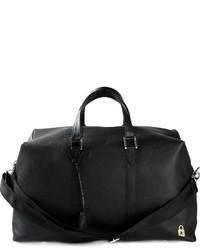 Bolsa de viaje de cuero negra de Golden Goose Deluxe Brand