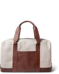 Bolsa de viaje de lona en beige de Brunello Cucinelli