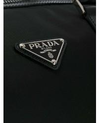 Bolsa de viaje de lona negra de Prada