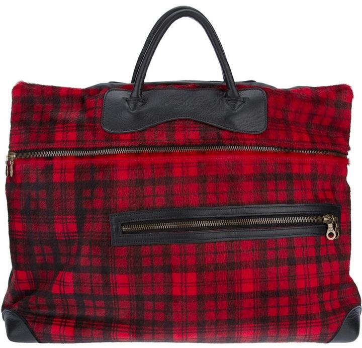 Bolsa de viaje de tartán roja de Jas M.B.