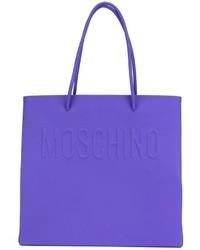 Bolsa tote azul de Moschino