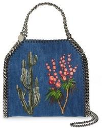 Bolsa tote bordada azul de Stella McCartney