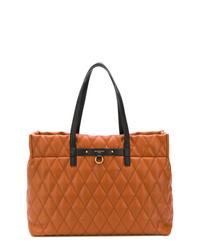 Bolsa tote de cuero acolchada en tabaco de Givenchy
