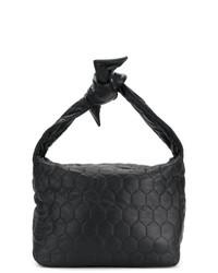 Bolsa tote de cuero acolchada negra de Victoria Beckham