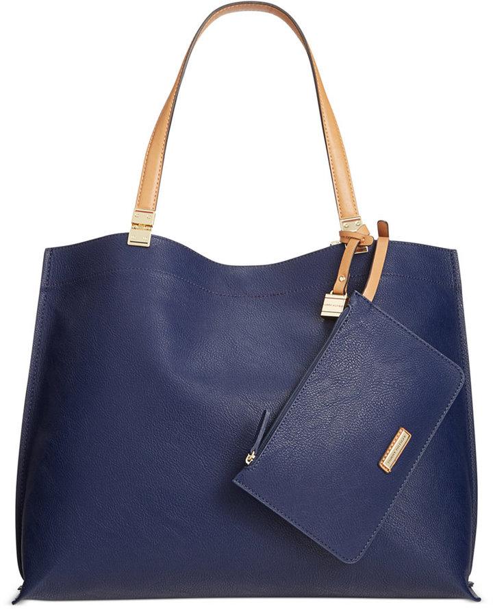 Bolsa tote de cuero azul marino de Tommy Hilfiger  dónde comprar y ... 8c3e8fe6f5