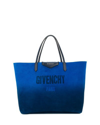 Bolsa tote de cuero azul de Givenchy