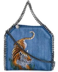 Bolsa tote de cuero azul de Stella McCartney
