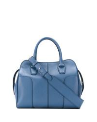 Bolsa tote de cuero azul de Tod's