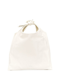 Bolsa tote de cuero blanca de Jil Sander