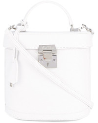 Bolsa tote de cuero blanca de MARK CROSS