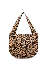 Bolsa tote de cuero de leopardo marrón claro de P.A.R.O.S.H.