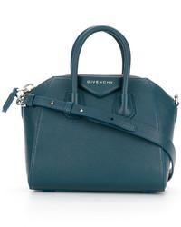 Bolsa tote de cuero en verde azulado de Givenchy