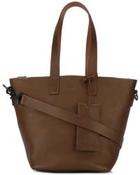 Bolsa tote de cuero marrón de Marsèll