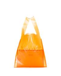Bolsa tote de cuero naranja de Maison Margiela