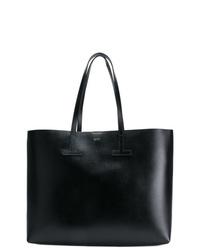 Bolsa tote de cuero negra de Tom Ford