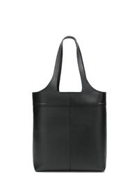 Bolsa tote de cuero negra de Victoria Beckham