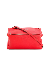 Bolsa tote de cuero roja de Givenchy