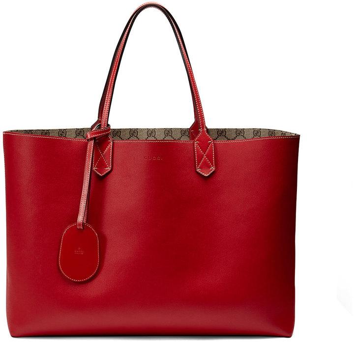217b2e381 Bolsa tote de cuero roja de Gucci, $1,250   Neiman Marcus ...