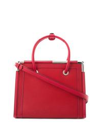 Bolsa tote de cuero roja de Karl Lagerfeld