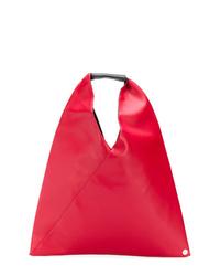 Bolsa tote de cuero roja de MM6 MAISON MARGIELA