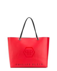 Bolsa tote de cuero roja de Philipp Plein