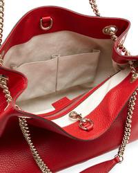 c93980b39 Bolsa tote de cuero roja de Gucci, $1,650   Neiman Marcus ...