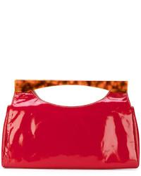 Bolsa tote de cuero roja de Tommy Hilfiger