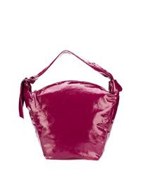 Bolsa tote de cuero rosa de Isabel Marant