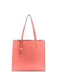 Bolsa tote de cuero rosa de Marc Jacobs