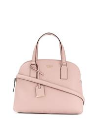 Bolsa tote de cuero rosada de Kate Spade