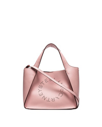 Bolsa tote de cuero rosada de Stella McCartney