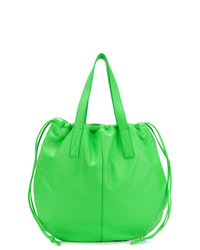 Bolsa tote de cuero verde de Victoria Beckham